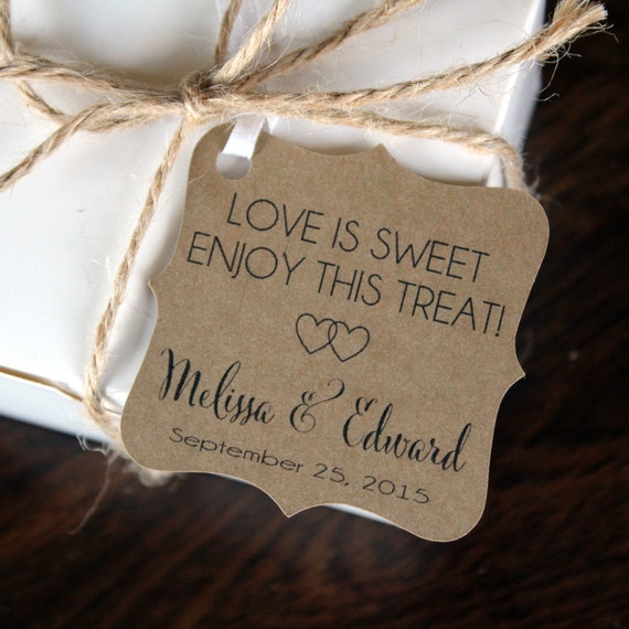 Love Is Sweet Wedding Gift Tags : Love is Sweet Favor Tags - Wedding Favor Thank You Tags -Personalized ...