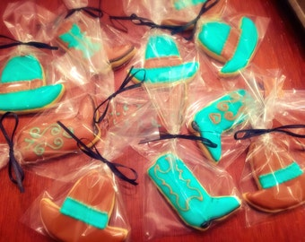 Cowboy Hat and Boots Sugar Cookies