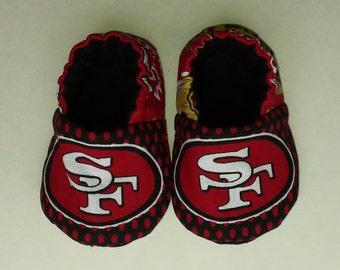 San Francisco 49ers baby shoes, baby slippers, crib shoes
