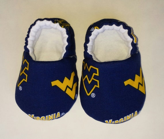 WVU Baby shoes baby slippers crib shoes West Virginia
