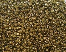 Toho Seed Bead Size 15 Dark Gold Bronze Metallic 9gr 25941