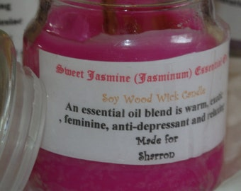 Wood Wick Candle Bergamot Frankincense Candle Pure Essential Oils Aromatherapy Spa Candles real Essential Oil. Personalized gifts