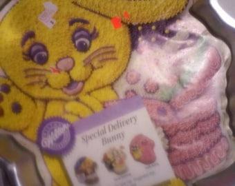 wilton bunny cake pan instructions