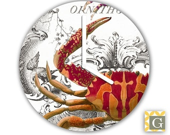 Wall Clock by GABBYClocks -  Crustaceans No. 2