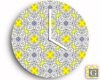 Wall Clock by GABBYClocks - Hennie Chrysanthemum No. 2