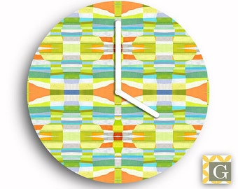 Wall Clock by GABBYClocks - Sunshine Fractal Petite