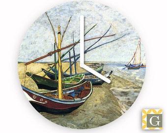 Wall Clock by GABBYClocks - Fishing Boats