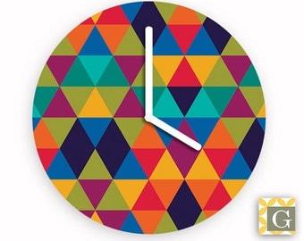Wall Clock by GABBYClocks - Geometric Multi No. 1