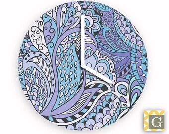 Wall Clock by GABBYClocks - Paisley Sky Grande