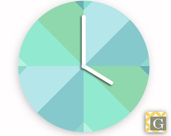 Wall Clock by GABBYClocks - Geometric Sea No. 5