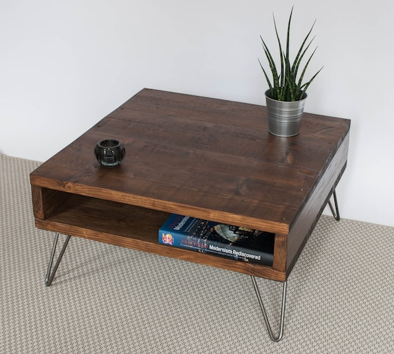 Etsy Wood Oval Coffee Table: Edouard Coffee Table Reclaimed Wood Mid Century Modern