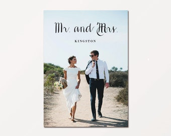Wedding Thank You Card - Mr & Mrs (Printable)