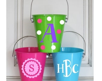 Personalized Metal Buckets Small Party Favors