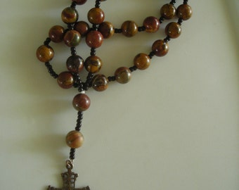 Anglican Rosary: Red Creek Jasper