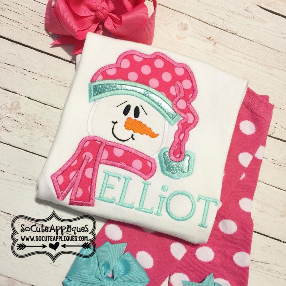 Embroidery design snowman applique