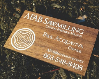 Wood Card - Wooden Card - Wooden Business Card - Wood Business Card - Solid wood business card