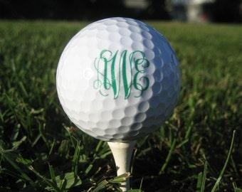 Monogram Personalized Golf Balls - SET OF 6 -  Custom Golf Balls - Printed Golf Balls - Gift for Golf Lover