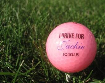Custom Golf Balls - Breast Cancer Awareness - Custom Golfballs - Personalized Golf Balls - Pink Golf Balls set