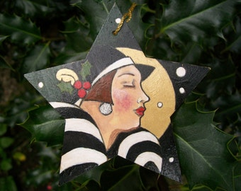 Art Deco Style Hand-painted Christmas Decoration