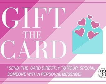Gift The Card, Promotional Card Add-On, Directly Send a Card to Your Special Someone with a Personal Message - Card