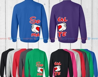Soul Mate - Matching Couple Sweatshirt - His and Her Sweatshirts - Love Sweaters