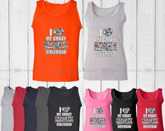I Love My Redneck Girlfriend & I Love My Redneck Boyfriend - Matching Couple Tank Top - His and Her Tank Tops - Love Tank Tops