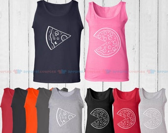 The Missing Piece Pizza & Slice - Matching Couple Tank Top - His and Her Tank Tops - Love Tank Tops