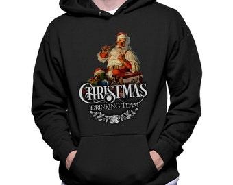 Christmas drinking team Hoodie Santa Shirt