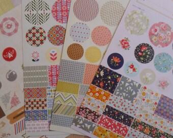 Korea Planner Deco Sticker Set 4 Sheets