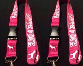 Love Pink lanyard