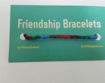 PS3 Brown/Red/Maroon/Green/Blue Friendship bracelet
