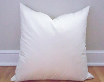 20x20 Pillow Insert, Feather Insert, Throw Pillows, Pillows, Pillow Form, Feather Filled Insert