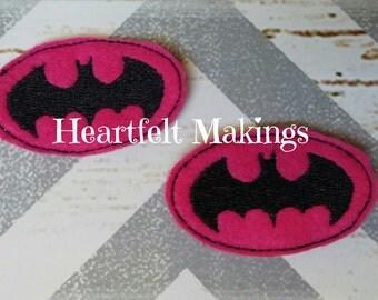 Pink batman feltie