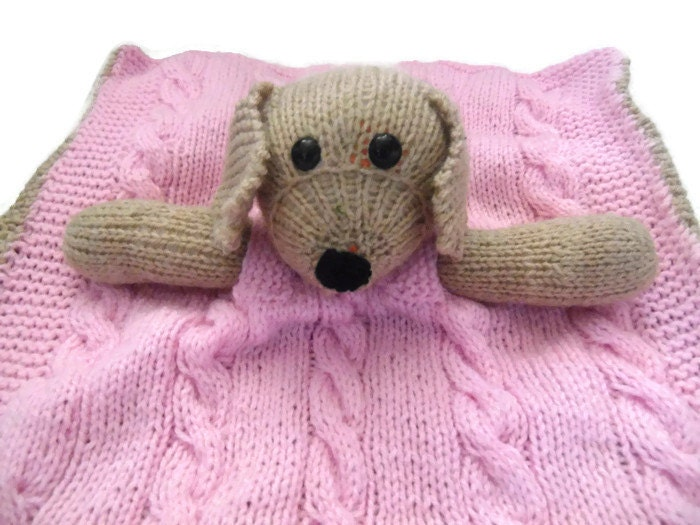 Dog Cuddle Blanket knitted blanket knitted dog by KnitSewCrafty1
