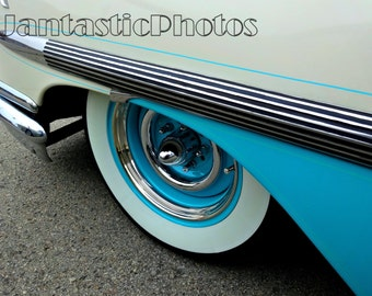 Chevrolet Nomad photograph 1958 Chevy station wagon front fender wheel details Instant download photo classic car photography automobile
