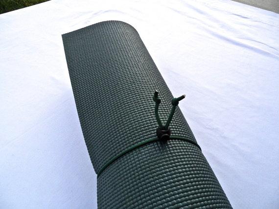 Mini Yoga Mat Tie- Pine Green- FREE SHIPPING on All U.S. Orders, Yoga Mat Holder, Yoga Mat Carrier, Yoga Mat Strap, Yoga Accessories