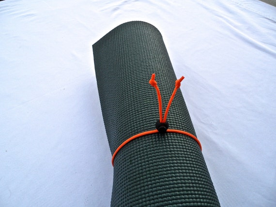 Mini Yoga Mat Tie- Sunset Orange- FREE SHIPPING on All U.S. Orders, Yoga Mat Holder, Yoga Mat Carrier, Yoga Mat Strap, Yoga Accessories