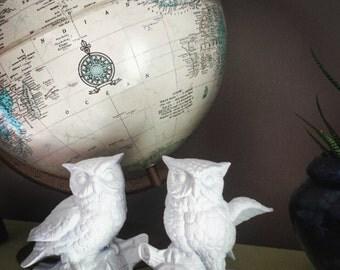 Vintage Ceramic Owl Figurines Set of 2