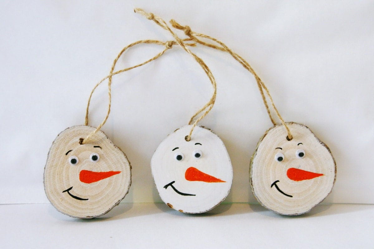 rustic christmas tree ornaments christmas diy wooden