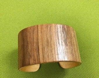 Handmade wood cuff bracelet
