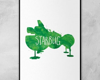 Red Dwarf | Starbug | Kryten | Craig Charles | Chris Barrie | Minimal Artwork Poster
