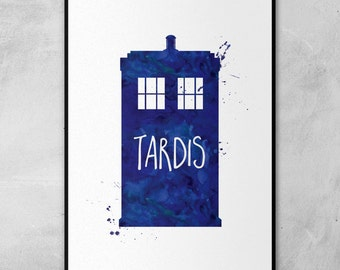 Doctor Who | TARDIS | Minimal Artwork Poster