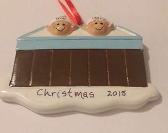 Hot tub Couple Ornament