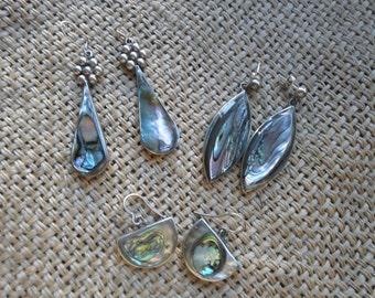 Vintage abalone earrings