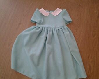 Lovely Little Handmade Girls Vintage Style Dress Age 4