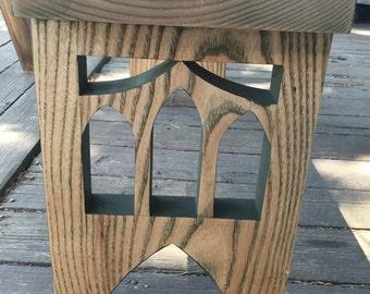 St. Johns Bridge themed bench