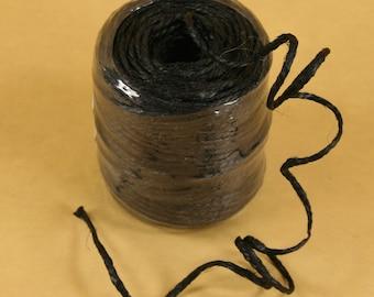 Burlap 3MM Jute Rope 3 Ply 75yd Spool BLACK