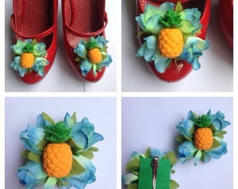 Pineapple Shoe Clips