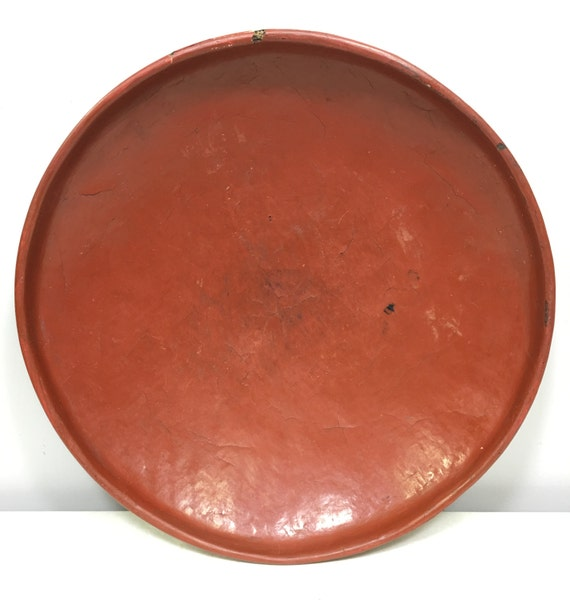 Trays Thailand Red Orange Lacquer Offering Trays Handmade Tree Sap Buddhist Shrines Temples Offering Trays Red Orange Unique P 3