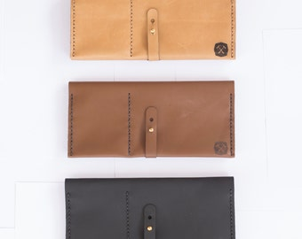 DIY leather travel wallet - Passport wallet - Tan - Semi aniline